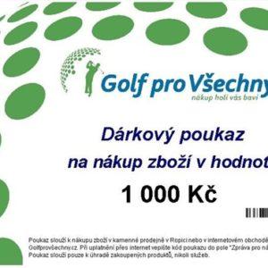 Dárkový poukaz Golf pro všechny.cz